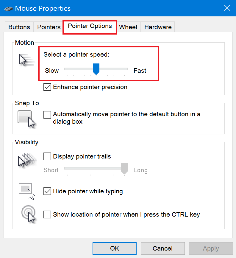 Windows 10] How to change the mouse settings